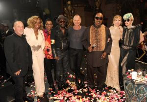 Sting & others with stevie Wonder